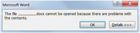 OPENING THERE THIS ERROR WAS AN DOCUMENT