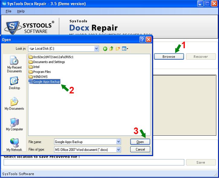 Docx File Repair Tool